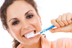 Tooth brushing Royalty Free Stock Image