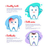 Tooth caries and healthy tooth concept Royalty Free Stock Photo