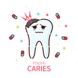 Tooth caries icon Royalty Free Stock Photography