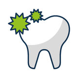 Tooth with caries  icon Royalty Free Stock Photos