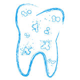 Tooth with caries Royalty Free Stock Images