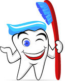 Tooth cartoon Stock Image
