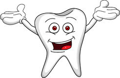 Tooth cartoon Royalty Free Stock Photos
