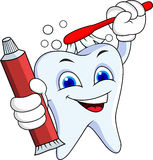 Tooth cartoon character Stock Images