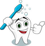 Tooth cartoon character Stock Photo