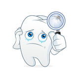 Tooth cartoon mascot had toothache Royalty Free Stock Photos