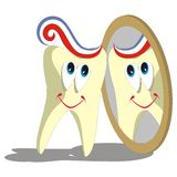 Tooth cartoon set 004 Stock Photography