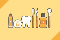 Family of healthy teeth and friend, dental care concept Stock Photography