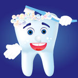 Tooth-character 2 Stock Image