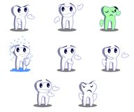 Tooth character. In this image I represented a tooth Royalty Free Stock Photos