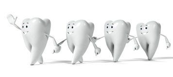 Tooth character Stock Images