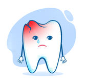 Tooth character Royalty Free Stock Photo