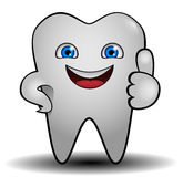 Tooth. Character of very smiling  white teeth Royalty Free Stock Photos