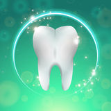 Tooth in circle Stock Photo