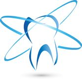 Tooth and circles, tooth and dentist logo Royalty Free Stock Images