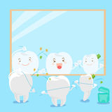 Tooth clean body Royalty Free Stock Photo