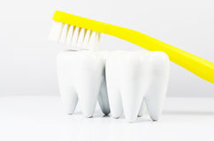 Tooth cleaning Stock Photo