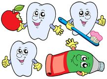 Tooth collection 2 stock illustration