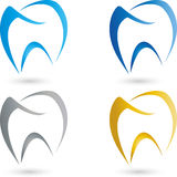 Tooth, colored, dentist logo Royalty Free Stock Images