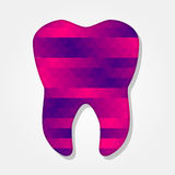 Tooth with colorful triangles Royalty Free Stock Photography