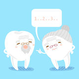Tooth couple with speech bubble stock illustration