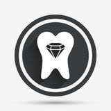 Tooth crystal sign icon. Dental prestige symbol. Royalty Free Stock Photo