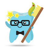 Tooth cute character, dental concept Royalty Free Stock Images