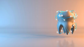 Tooth - 3D Illustration Stock Photography