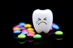 Tooth decay is crying Stock Photography