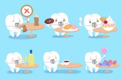 Tooth with decay problem Stock Photos