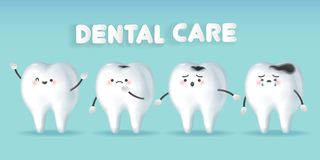 Tooth with decay problem vector illustration