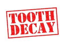 TOOTH DECAY. Red Rubber Stamp over a white background Royalty Free Stock Image