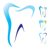 Tooth dental icon set Royalty Free Stock Images