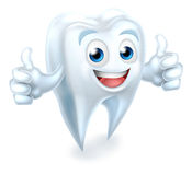 Tooth Dental Mascot Giving Thumbs Up Royalty Free Stock Photos