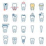 Tooth  disease, vector Royalty Free Stock Image
