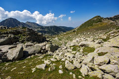 The Tooth and  the Dolls peaks in Pirin Mountain Stock Images