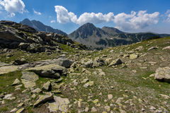 The Tooth, the Dolls and  Yalovarnika peaks in Pirin Mountain Stock Photography