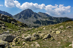 The Tooth, the Dolls and the Yalovarnika peaks in Pirin Mountain Royalty Free Stock Images