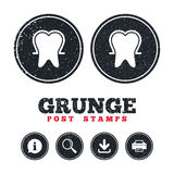 Tooth enamel protection sign icon. Dental care symbol. Stock Photos