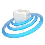 Tooth encircled with rings Stock Photo