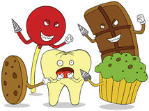 Tooth enemies Royalty Free Stock Photos