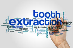 Tooth extraction word cloud Stock Photo