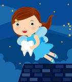 Tooth fairy. Illustration of cute tooth fairy royalty free illustration