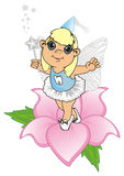 Tooth fairy and flower Royalty Free Stock Photo