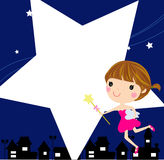 A tooth fairy. Illustration of a tooth fairy Stock Photography