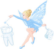 Tooth fairy. Illustration of smiling cute tooth fairy Stock Photography