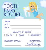 Tooth Fairy receipt certificate design Stock Images