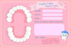 Tooth fairy report card Stock Photos