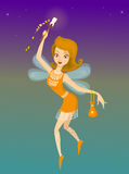 Tooth Fairy. Vector illustration of tooth fairy Royalty Free Stock Photo