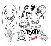 Tooth fairy, vector illustration. Royalty Free Stock Photo